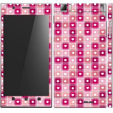 Snooky 41629 Digital Print Mobile Skin Sticker For Lenovo K900 - Pink