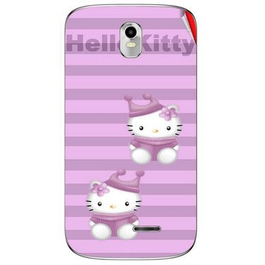 Snooky 41637 Digital Print Mobile Skin Sticker For Lava Iris 402 Plus - Pink