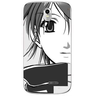 Snooky 41641 Digital Print Mobile Skin Sticker For Lava Iris 402 Plus - Grey