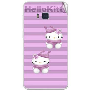 Snooky 41649 Digital Print Mobile Skin Sticker For Lava Iris 406Q - Pink