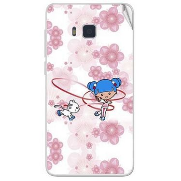 Snooky 41655 Digital Print Mobile Skin Sticker For Lava Iris 406Q - White