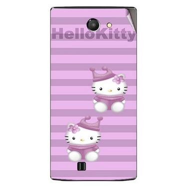 Snooky 41661 Digital Print Mobile Skin Sticker For Lava Iris 456 - Pink