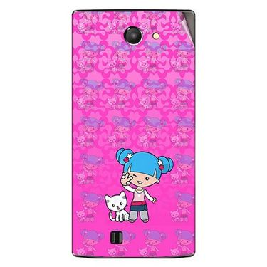 Snooky 41666 Digital Print Mobile Skin Sticker For Lava Iris 456 - Pink