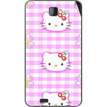 Snooky 41674 Digital Print Mobile Skin Sticker For Lava Iris 502 - Pink