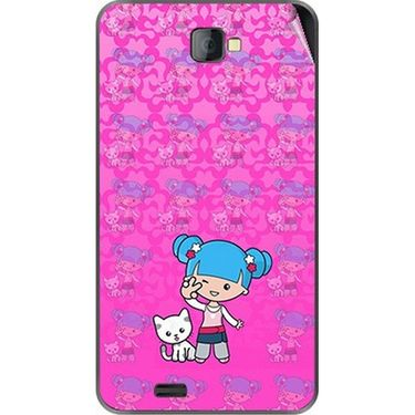 Snooky 41678 Digital Print Mobile Skin Sticker For Lava Iris 502 - Pink