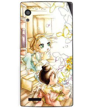 Snooky 41707 Digital Print Mobile Skin Sticker For Lava Iris Fuel 60 - White