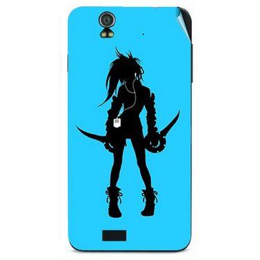 Snooky 41724 Digital Print Mobile Skin Sticker For Lava Iris selfie 50 - Blue