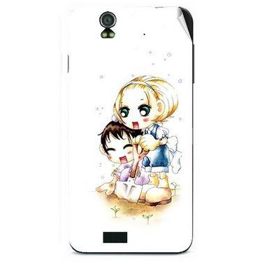 Snooky 41728 Digital Print Mobile Skin Sticker For Lava Iris selfie 50 - White