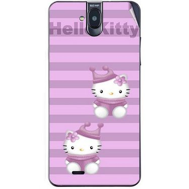 Snooky 41757 Digital Print Mobile Skin Sticker For Lava Iris 550Q - Pink