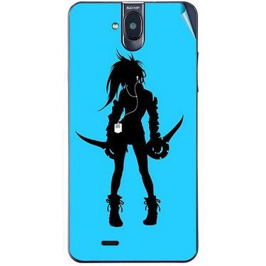 Snooky 41760 Digital Print Mobile Skin Sticker For Lava Iris 550Q - Blue