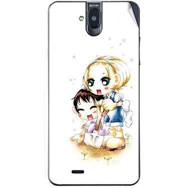Snooky 41764 Digital Print Mobile Skin Sticker For Lava Iris 550Q - White