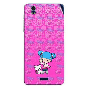 Snooky 41786 Digital Print Mobile Skin Sticker For Lava Iris Pro 20 - Pink