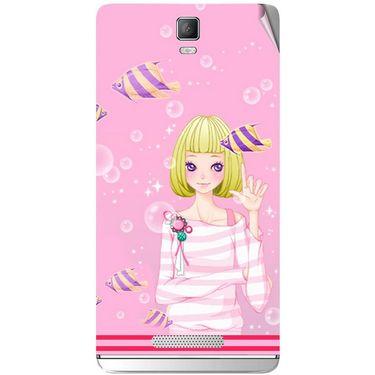 Snooky 41814 Digital Print Mobile Skin Sticker For Lava Iris Fuel 50 - Pink