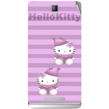 Snooky 41817 Digital Print Mobile Skin Sticker For Lava Iris Fuel 50 - Pink