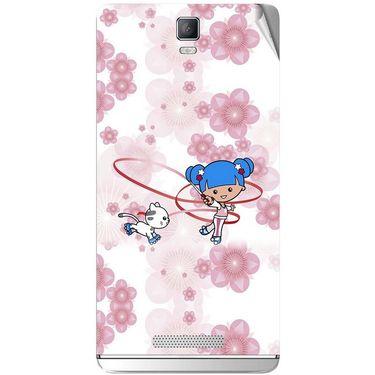 Snooky 41823 Digital Print Mobile Skin Sticker For Lava Iris Fuel 50 - White
