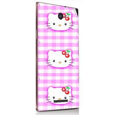 Snooky 41842 Digital Print Mobile Skin Sticker For Lava Magnum X604 - Pink
