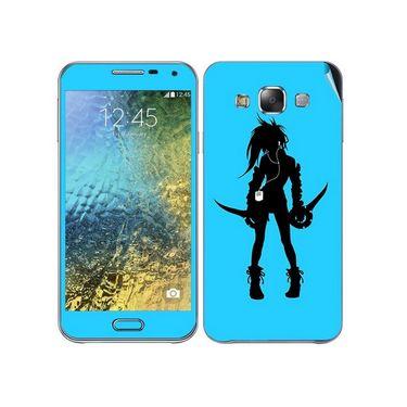 Snooky 41877 Digital Print Mobile Skin Sticker For Samsung Galaxy E7 - Blue