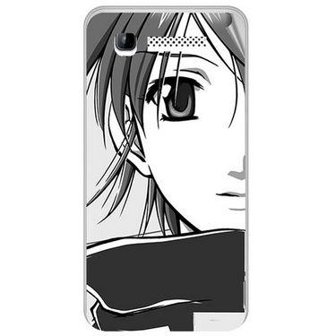 Snooky 41900 Digital Print Mobile Skin Sticker For Intex Aqua 3G - Grey