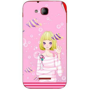 Snooky 41927 Digital Print Mobile Skin Sticker For Intex Aqua Curve - Pink
