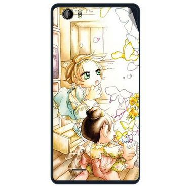 Snooky 41950 Digital Print Mobile Skin Sticker For Intex Aqua Desire - White