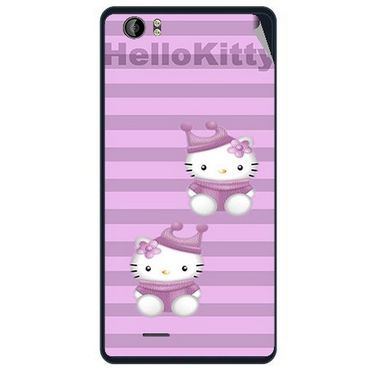 Snooky 41952 Digital Print Mobile Skin Sticker For Intex Aqua Desire - Pink
