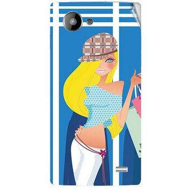 Snooky 41959 Digital Print Mobile Skin Sticker For Intex Aqua HD - Blue