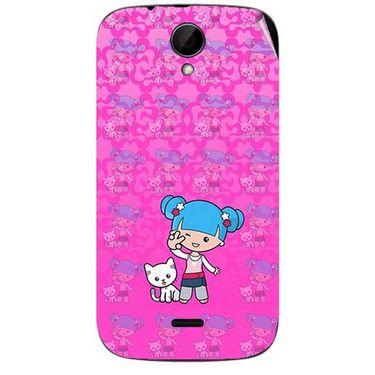 Snooky 41978 Digital Print Mobile Skin Sticker For Intex Aqua i3 - Pink