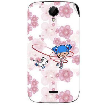 Snooky 41979 Digital Print Mobile Skin Sticker For Intex Aqua i3 - White