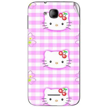 Snooky 41986 Digital Print Mobile Skin Sticker For Intex Aqua i4 - Pink