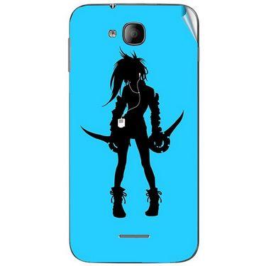 Snooky 41987 Digital Print Mobile Skin Sticker For Intex Aqua i4 - Blue
