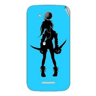 Snooky 41998 Digital Print Mobile Skin Sticker For Intex Aqua i5 - Blue