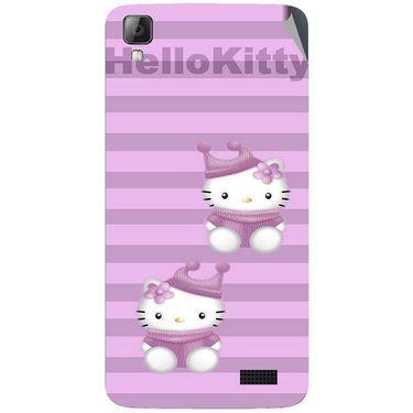 Snooky 42073 Digital Print Mobile Skin Sticker For Intex Aqua N7 - Pink