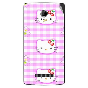 Snooky 42085 Digital Print Mobile Skin Sticker For Intex Aqua N8 - Pink