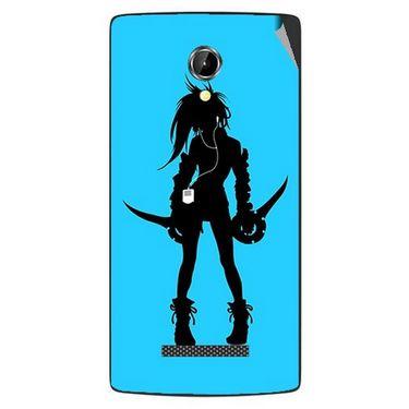 Snooky 42086 Digital Print Mobile Skin Sticker For Intex Aqua N8 - Blue
