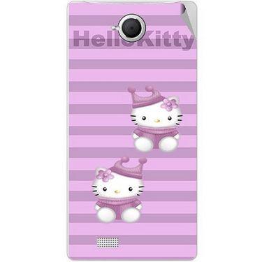 Snooky 42095 Digital Print Mobile Skin Sticker For Intex Aqua N17 - Pink
