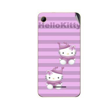 Snooky 42106 Digital Print Mobile Skin Sticker For Intex Aqua Power HD - Pink