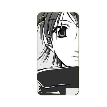 Snooky 42109 Digital Print Mobile Skin Sticker For Intex Aqua Power HD - Grey
