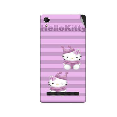 Snooky 42117 Digital Print Mobile Skin Sticker For Intex Aqua Power Plus - Pink