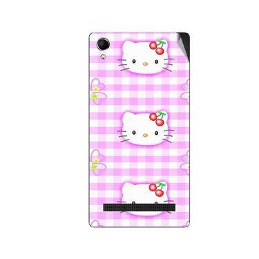 Snooky 42118 Digital Print Mobile Skin Sticker For Intex Aqua Power Plus - Pink