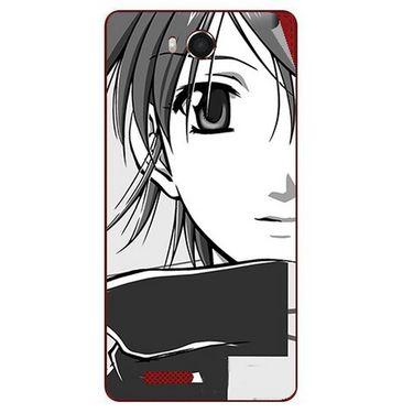 Snooky 42186 Digital Print Mobile Skin Sticker For Intex Aqua Star Hd - Grey