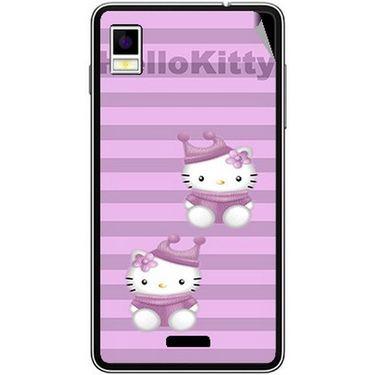 Snooky 42205 Digital Print Mobile Skin Sticker For Intex Aqua Style - Pink