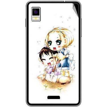 Snooky 42211 Digital Print Mobile Skin Sticker For Intex Aqua Style - White
