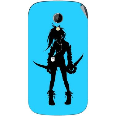 Snooky 42229 Digital Print Mobile Skin Sticker For Intex Aqua T2 - Blue