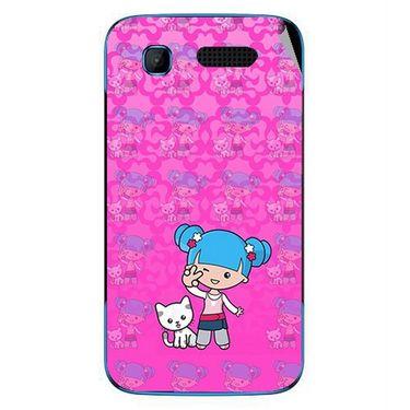 Snooky 42242 Digital Print Mobile Skin Sticker For Intex Aqua T3 - Pink