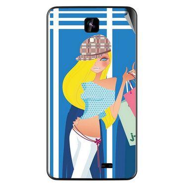 Snooky 42267 Digital Print Mobile Skin Sticker For Intex Aqua Y2 IPS - Blue