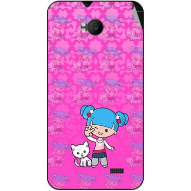 Snooky 42286 Digital Print Mobile Skin Sticker For Intex Aqua Y2 Remote - Pink