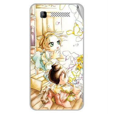 Snooky 42291 Digital Print Mobile Skin Sticker For Intex Cloud Y11 - White