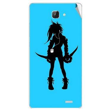 Snooky 42317 Digital Print Mobile Skin Sticker For Intex Aqua I5 HD - Blue