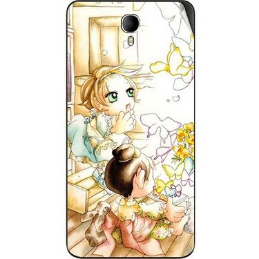 Snooky 42346 Digital Print Mobile Skin Sticker For Intex Cloud M6 - White