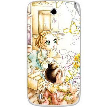 Snooky 42357 Digital Print Mobile Skin Sticker For Intex Cloud Y4 Plus - White